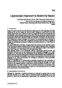 Laparoscopic Approach to Abdominal Sepsis