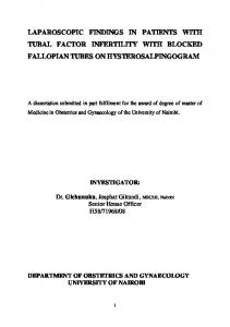 LAPAROSCOPIC FINDINGS IN PATIENTS WITH TUBAL FACTOR INFERTILITY WITH BLOCKED FALLOPIAN TUBES ON HYSTEROSALPINGOGRAM