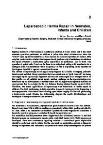 Laparoscopic Hernia Repair in Neonates, Infants and Children