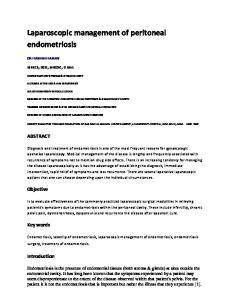 Laparoscopic management of peritoneal endometriosis