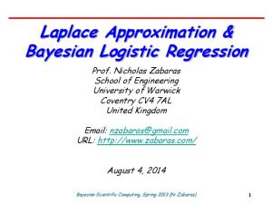 Laplace Approximation & Bayesian Logistic Regression