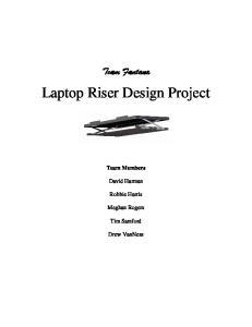 Laptop Riser Design Project