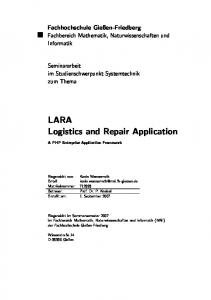 LARA Logistics and Repair Application