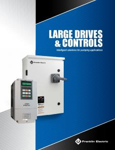 LARGE Drives. Intelligent solutions for pumping applications