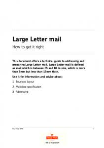 Large Letter mail. How to get it right