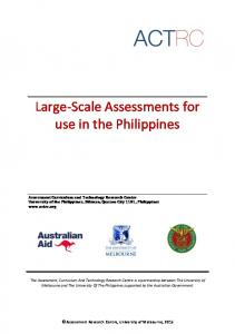 Large-Scale Assessments for use in the Philippines