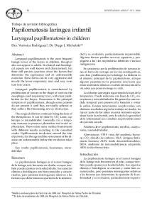 Laryngeal papillomatosis in children