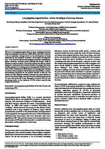 Laryngopharyngeal Reflux- A New Paradigm of Airway Disease