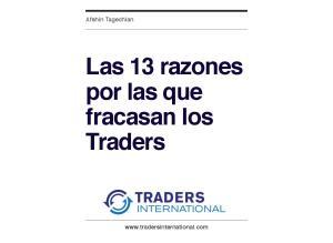 Las 13 razones por las que fracasan los Traders