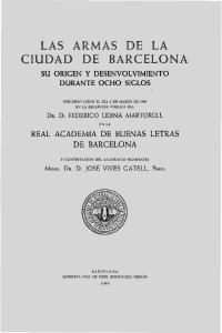 LAS ARMAS DE LA CIUDAD DE BARCELONA