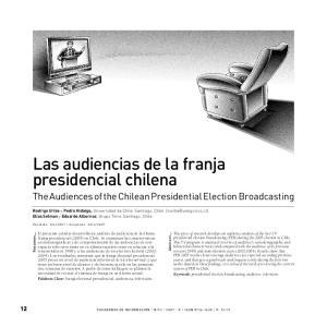 Las audiencias de la franja presidencial chilena