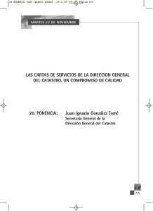 LAS CARTAS DE SERVICIOS DE LA DIRECCION GENERAL DEL CATASTRO, UN COMPROMISO DE CALIDAD