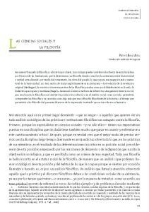 Las ciencias sociales y