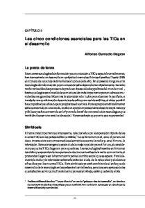Las cinco condiciones esenciales para las TICs en el desarrollo