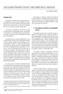 LAS CLASES PASIVAS CIVILES Y MILITARES EN EL URUGUAY *
