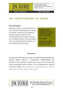 LAS CLASIFICADORAS DE RIESGO