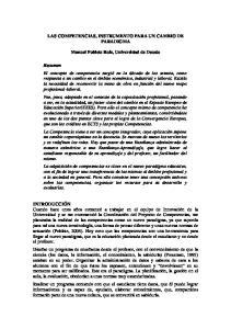 LAS COMPETENCIAS, INSTRUMENTO PARA UN CAMBIO DE PARADIGMA. Manuel Poblete Ruiz, Universidad de Deusto