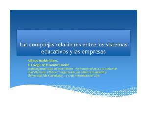 Las complejas relaciones entre los sistemas educativos y las empresas
