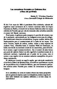 Las concesiones forestales en Quintana Roo a fines del porfiriato