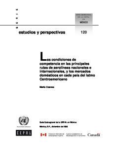 Las condiciones de. estudios y perspectivas