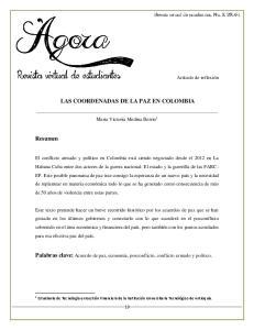 LAS COORDENADAS DE LA PAZ EN COLOMBIA