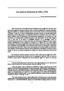 Las cortes de Benavente de 1202 y 1228