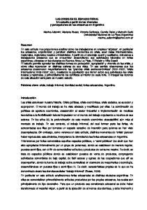 LAS CRISIS EN EL ESPACIO FERIAL Un estudio a partir de las vivencias y percepciones de los artesanos en Argentina
