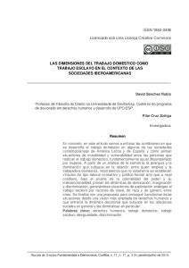 LAS DIMENSIONES DEL TRABAJO DOMESTICO COMO TRABAJO ESCLAVO EN EL CONTEXTO DE LAS SOCIEDADES IBEROAMERICANAS