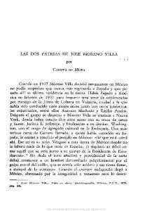 LAS DOS PATRIAS DE JOSE MORENO VILLA