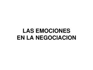 LAS EMOCIONES EN LA NEGOCIACION