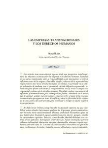 LAS EMPRESAS TRANSNACIONALES Y LOS DERECHOS HUMANOS