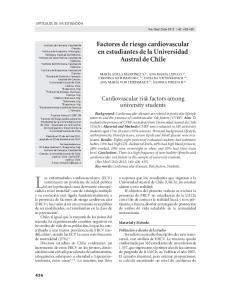 Las enfermedades cardiovasculares (ECV) Factores de riesgo cardiovascular en estudiantes de la Universidad Austral de Chile