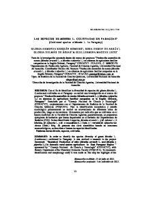LAS ESPECIES DE MENTHA L. CULTIVADAS EN PARAGUAY 1 [Cultivated species of Mentha L. in Paraguay]