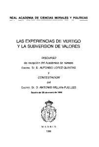 LAS EXPERIENCIAS DE VERTIGO y LA SUBVERSION DE VALORES