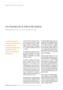 Las fuentes de la Sierra de Huelva