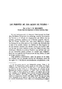 LAS FUENTES DE SAN JULIAN DE TOLEDO