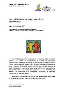 Las habilidades sociales, base de la convivencia