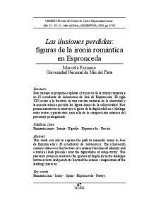Las ilusiones perdidas: figuras de la ironía romántica en Espronceda