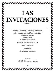 LAS INVITACIONES Unidad 3