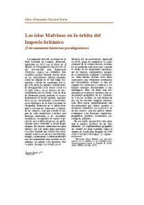 Las islas Malvinas en la órbita del Imperio británico