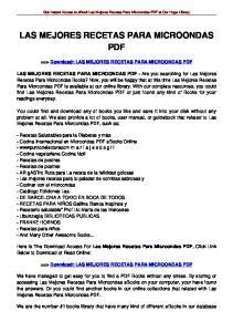 LAS MEJORES RECETAS PARA MICROONDAS PDF