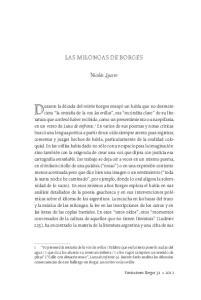 Las milongas de Borges