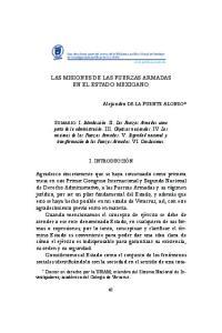 LAS MISIONES DE LAS FUERZAS ARMADAS EN EL ESTADO MEXICANO