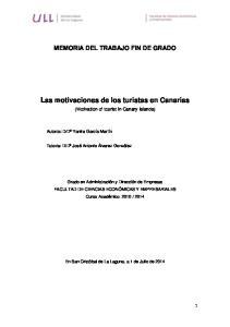 Las motivaciones de los turistas en Canarias