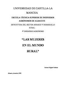 LAS MUJERES EN EL MUNDO RURAL