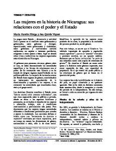 Las mujeres en la historia de Nicaragua: sus relaciones con el poder y el Estado