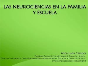 LAS NEUROCIENCIAS EN LA FAMILIA Y ESCUELA