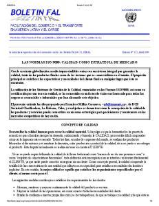 LAS NORMAS ISO 9000: CALIDAD COMO ESTRATEGIA DE MERCADO