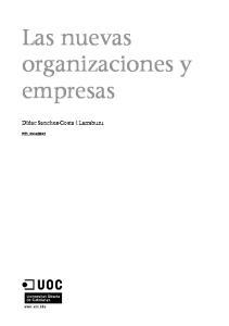 Las nuevas organizaciones y empresas