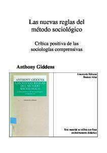 Las nuevas reglas del método sociológico
